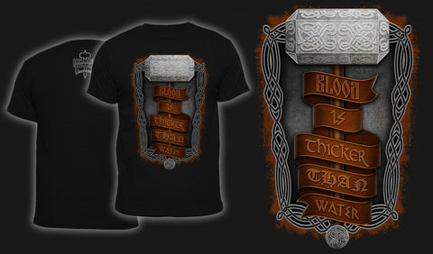 Blood Is Thicker Than Water - Men's T-Shirt Black