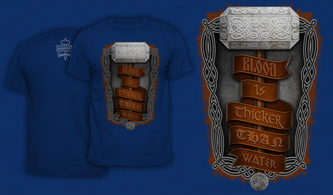 Blood Is Thicker Than Water - Men's T-Shirt Blue