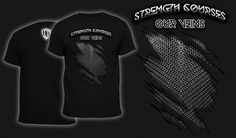 Strength Courses Our Veins - Men's T-Shirt Black