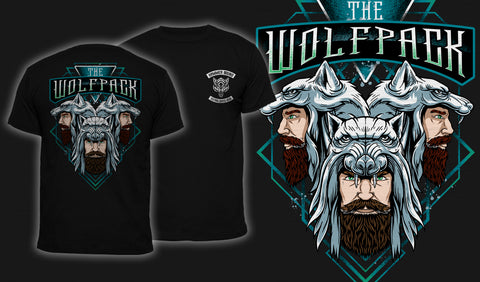 The Wolfpack - Men's T-Shirt Black