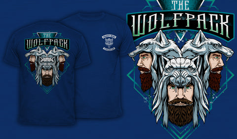 The Wolfpack - Men's T-Shirt Blue