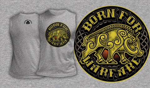 Born For Warfare - Muscle Shirt Heather Grey