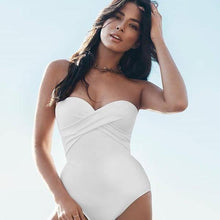 JETS - Bandeau One Piece Swimsuit/White