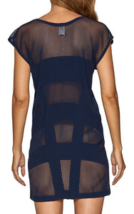 JETS - Panelled Cut Out Kaftan/Ink