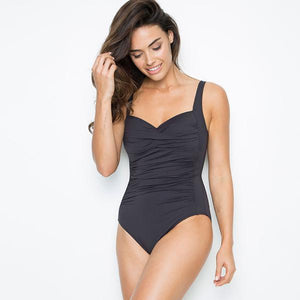 SEA LEVEL - Plain Twist Front Multifit One Piece/Black