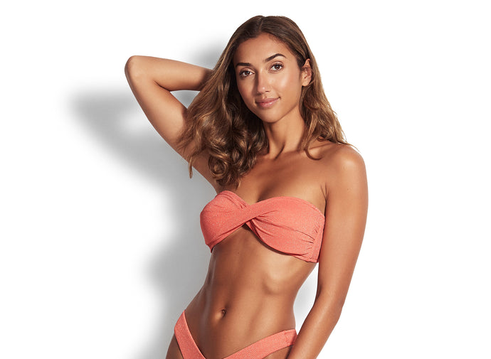SEAFOLLY - TWIST BANDEAU/STAR DUST