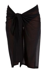 JETS - Long Mesh Sarong/Black