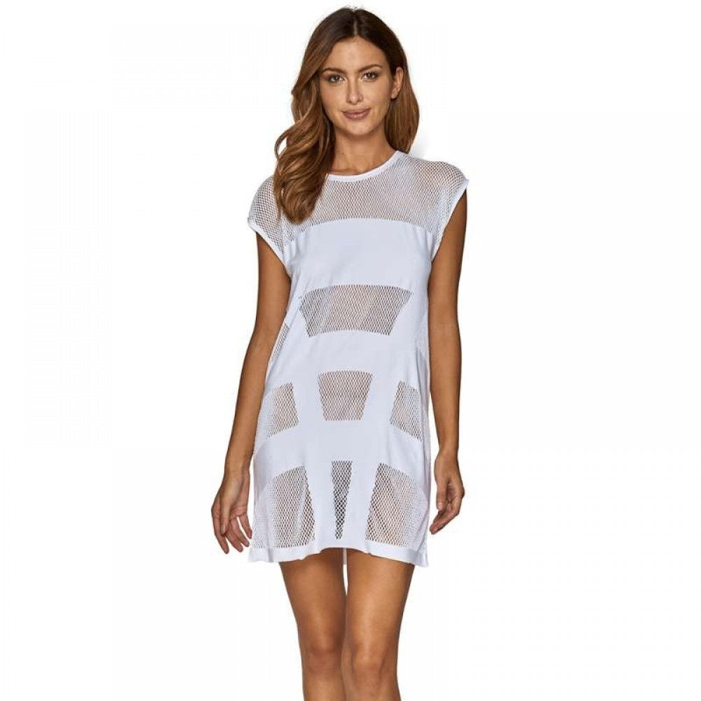 JETS - Panelled Cut Out Kaftan/White