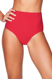 SEA LEVEL - Riviera Rib High Waist Pant/Red