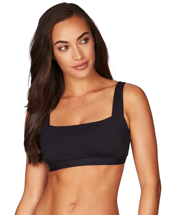 SEA LEVEL - ESSENTIALS SQUARE NECK BRA BLACK