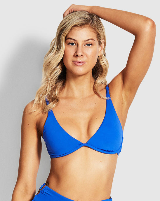 SEAFOLLY - SPLIT WIRE BRA/COBALT