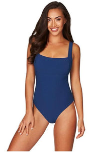 SEA LEVEL - RIVIERA RIB SQUARE NECK ONE PIECE/OCEAN BLUE