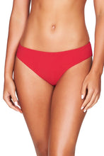 SEA LEVEL - Riviera Rib Regular Bikini Pant/Red