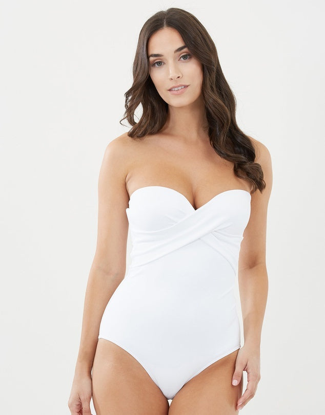24b3602468 JETS - Bandeau One Piece Swimsuit White – Virtueswim