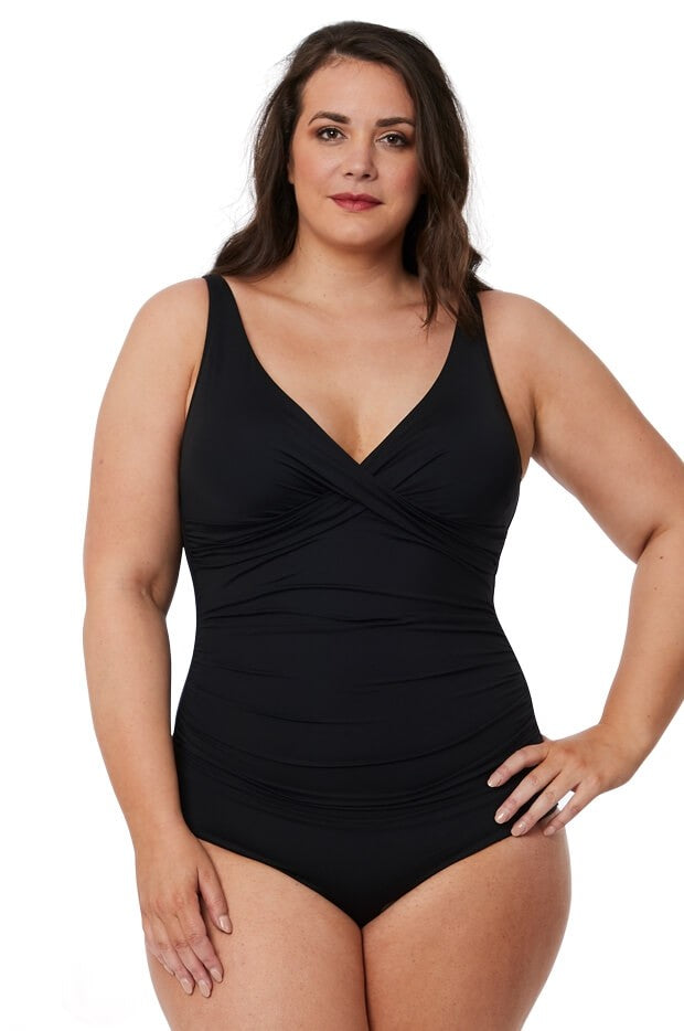 SEA LEVEL - CROSS FRONT MULTIFIT ONE PIECE/BLACK