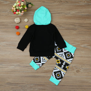 Geometric Hoodie Top & Pants Set
