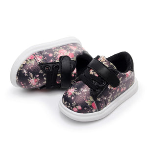 Flower Soft Leather Sneakers
