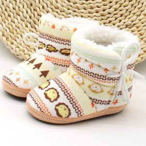 Super Soft Cotton Mixed Pattern Boots