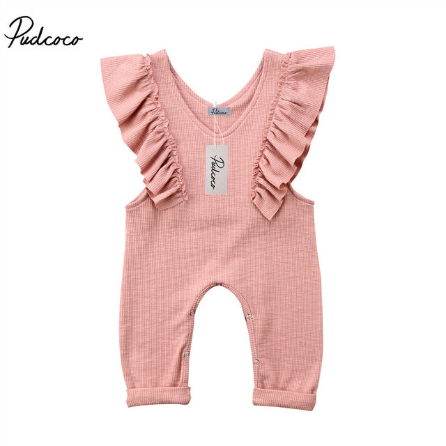 Pleated Sleeveless Ruffle Romper 1T-5T - StrawberryDaze