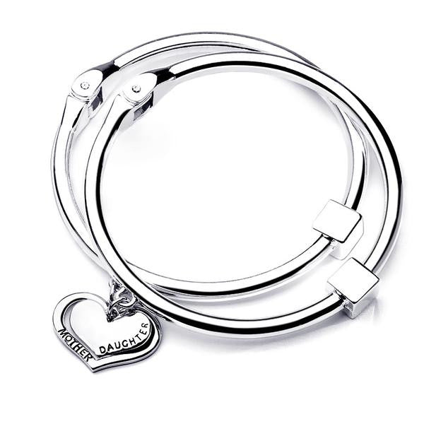 Mother Daughter Round Bangle Set - StrawberryDaze