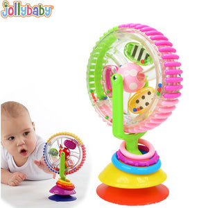 Jollybaby Three-Color Rotating Windmill Toy Adheres to Table or Rattle