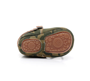 Camouflage PU Leather Moccasin Shoes