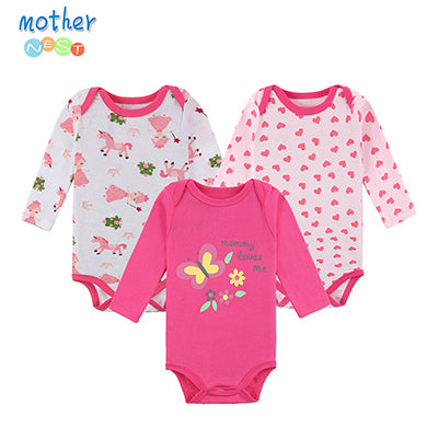 3 Pcs Long Sleeve Baby Romper 12 Colors - StrawberryDaze