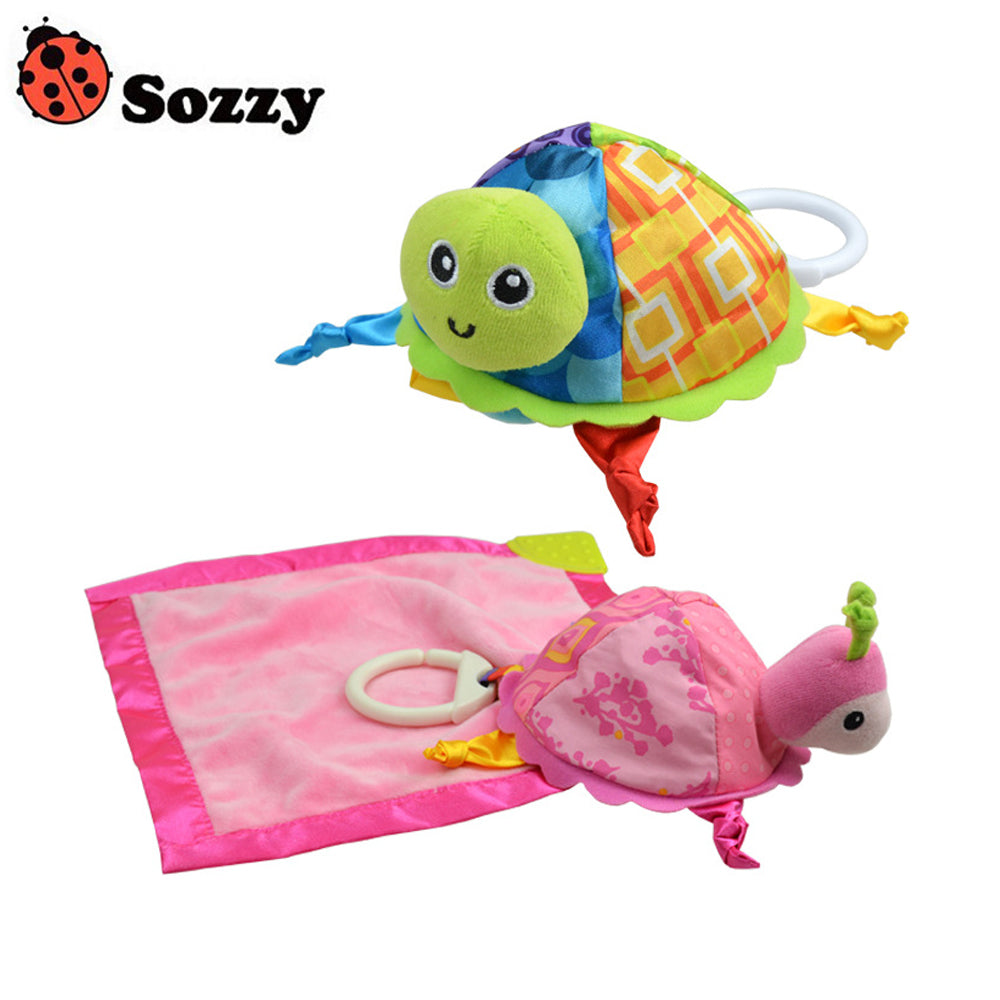 Sozzy Baby Rattle Turtle Plush Appease Towels Educational Toys - StrawberryDaze