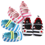 Baby Girls Canvas Striped Anti-slip Shoes - StrawberryDaze