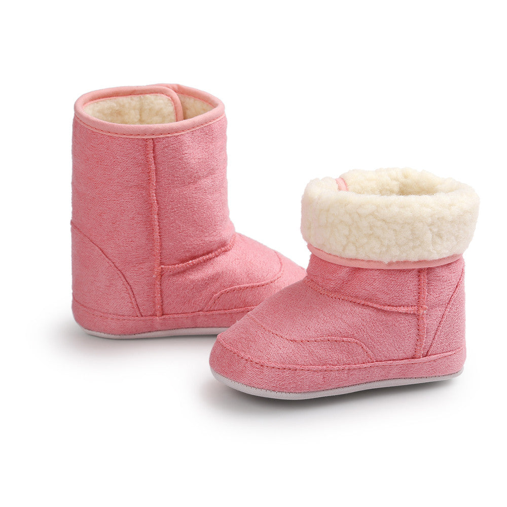 Baby Soft Sole Snow Boots Soft Crib Shoes