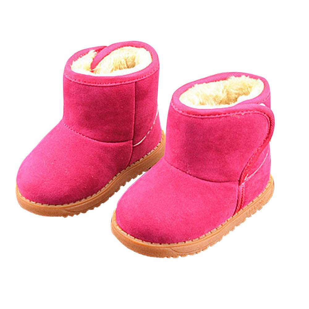 Winter Style Baby Cotton | Warm Snow Bright Pink Boots - StrawberryDaze
