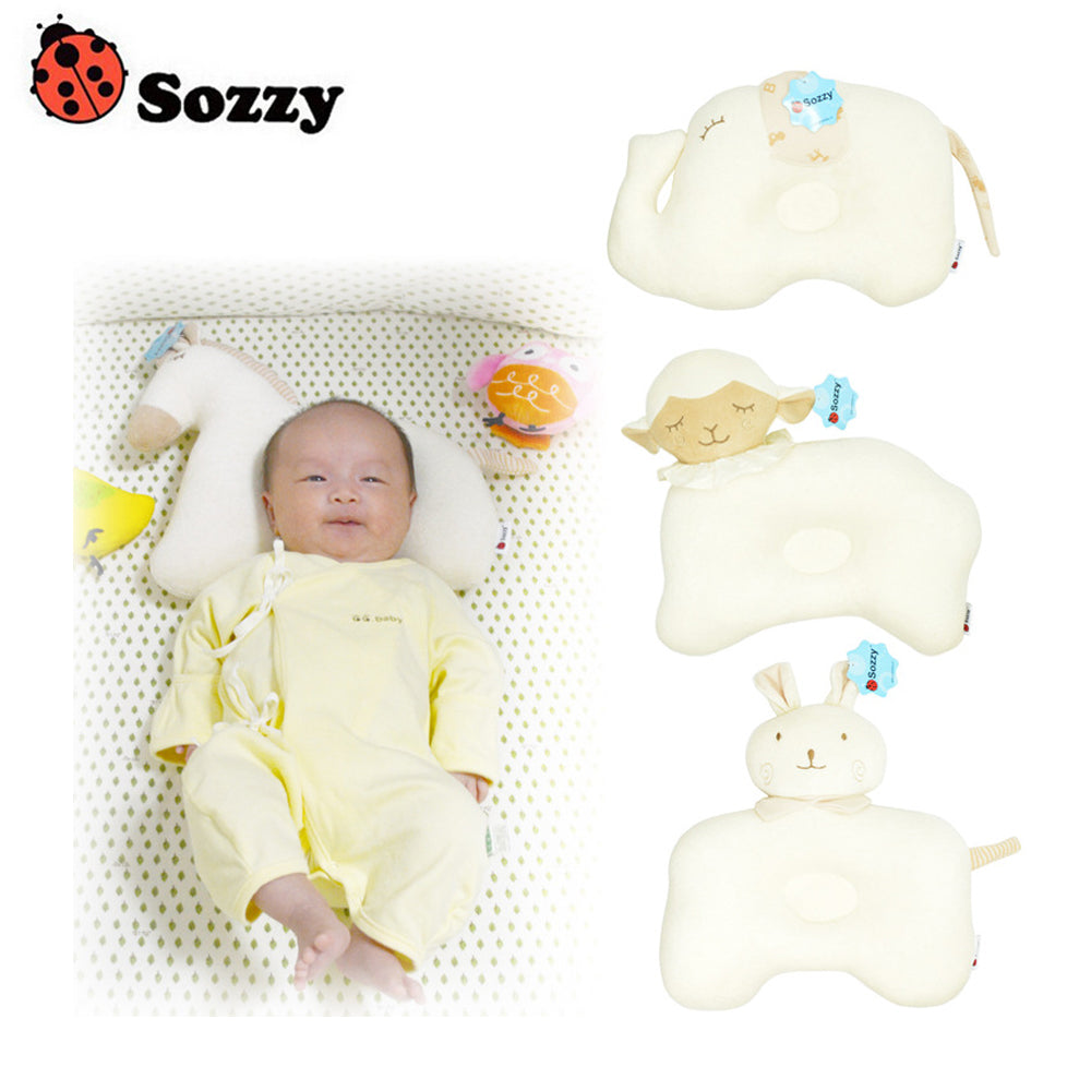 Sozzy Cute Cotton Animal Memory Foam Pillow For Infants
