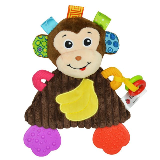 Baby Teether Plush Towel Playmate Animal Developmental / Educational Toy - StrawberryDaze