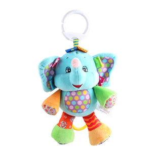 Jollybaby Multi-functional Animal Plush Toys | Mobiles Soft Cotton Infant Pram Stroller Car Hanging Rattles | 0-2 yrs old 1 pcs - StrawberryDaze