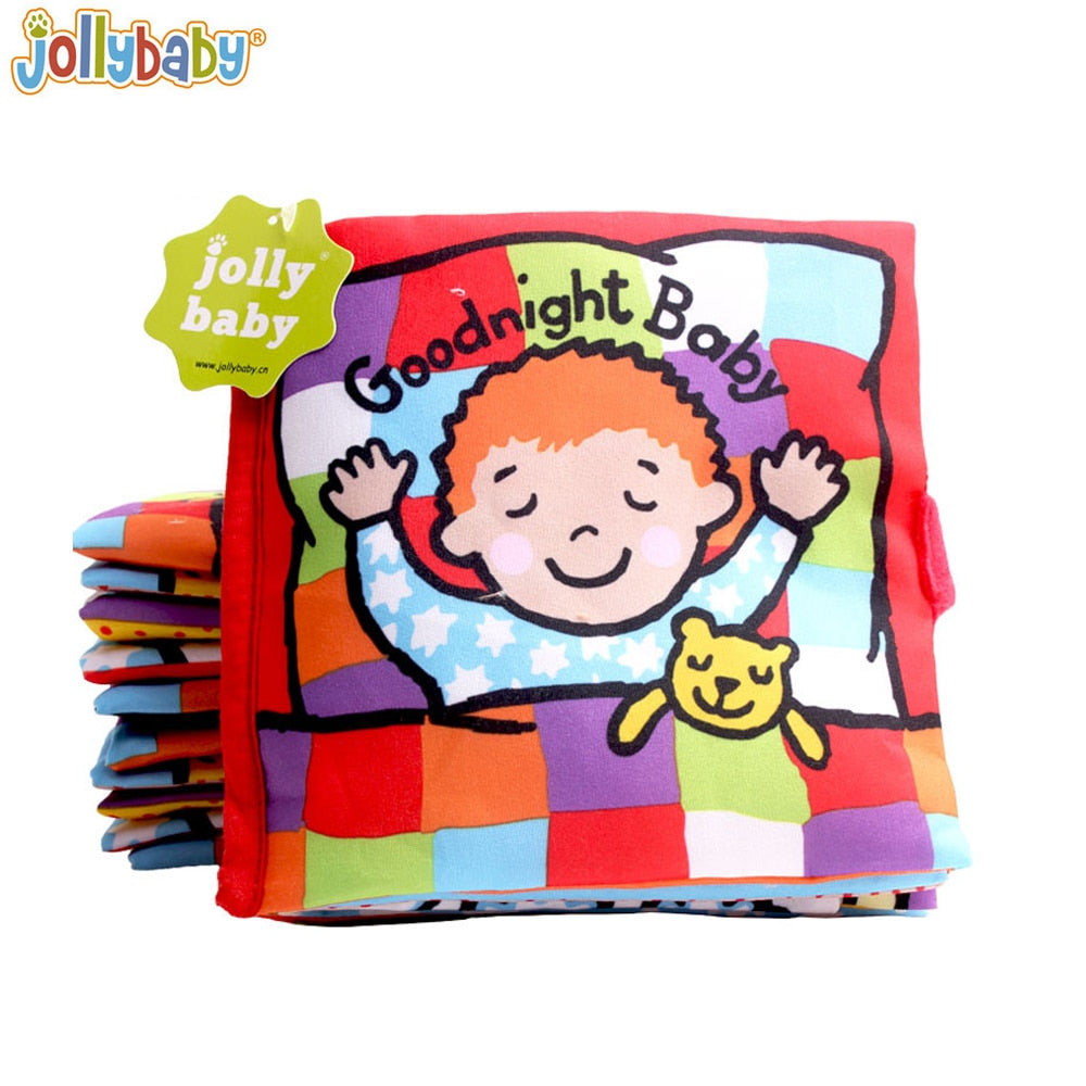Jollybaby Soft Cloth Books Peek a Boo Fabric Activity Crinkly Books Educational Toys for Baby - StrawberryDaze
