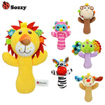 Sozzy Cute Cartoon Animal Musical Baby Rattle Plush Toys 1pcs