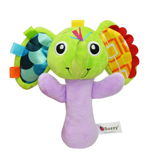 Sozzy Cute Cartoon Animal Musical Baby Rattle Plush Toys 1pcs - StrawberryDaze