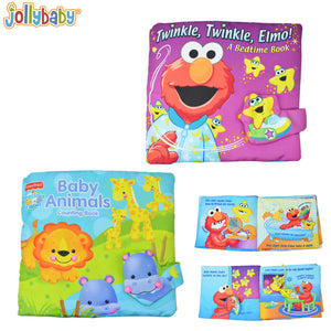 Jollybaby Cloth Book Toys for Children - Choose from Twinkle, Twinkle Elmo! & Baby Animals - StrawberryDaze
