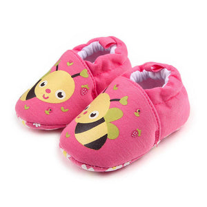 First Walkers Baby Shoes Round Toe Flats Soft Slippers - StrawberryDaze