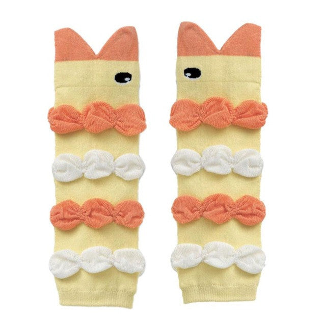 Animal Shaped Leg Warmers / Knee Pads For Baby - StrawberryDaze