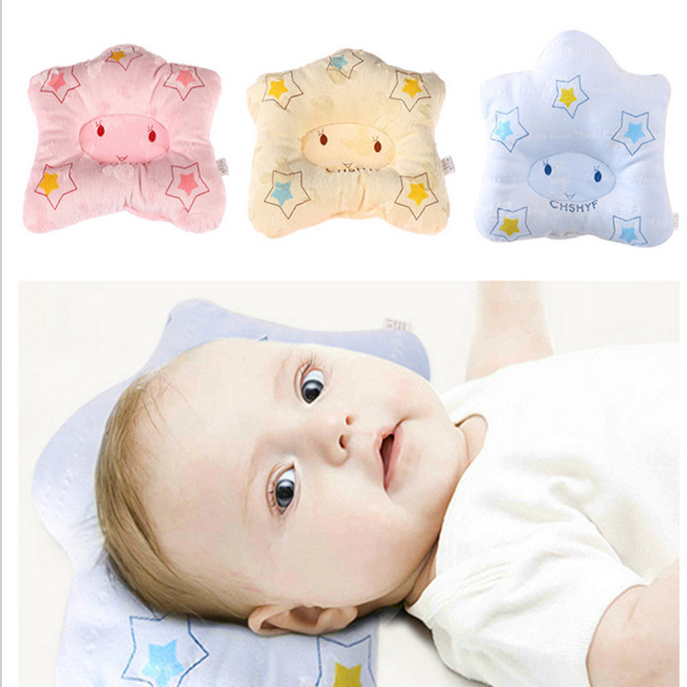 Newborn Baby Pillow Anti Roll Cushion - Great For Flat Head Pillow Protection! - StrawberryDaze