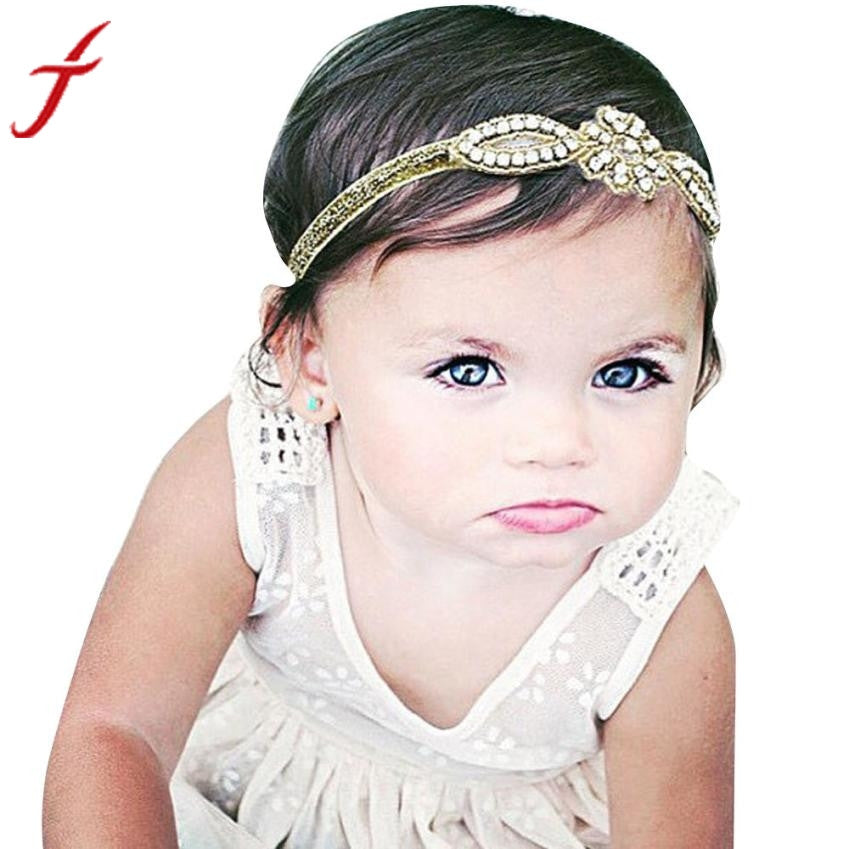 New Arrival Cute Baby Girl Crystal Rhinestone Head Accessories