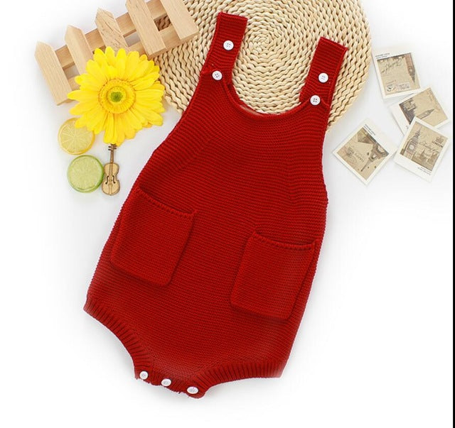 Cute Knitted Vintage Rompers - StrawberryDaze