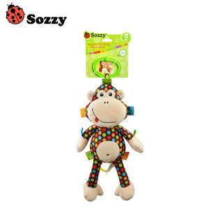 Sozzy High Quality Monkey Pull Rattle Plush Baby Toy