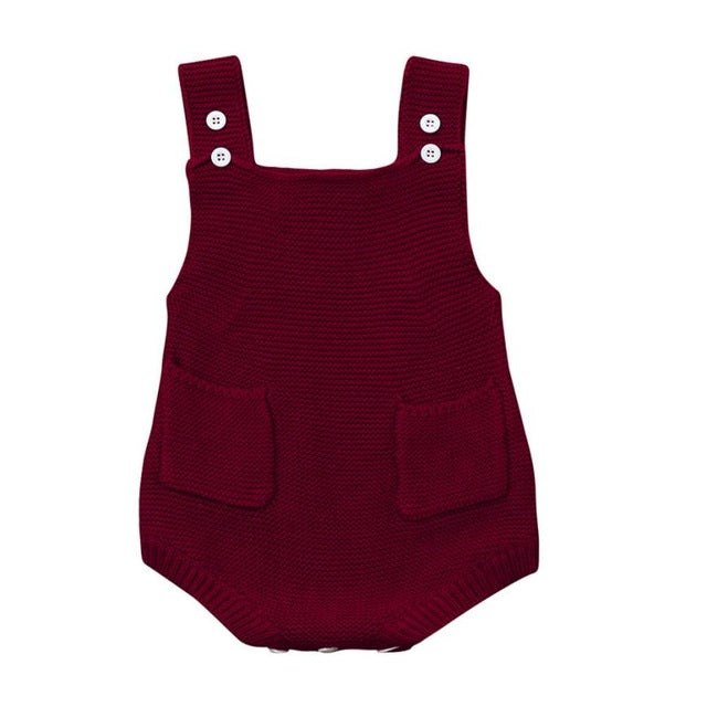 Knitted Baby Rompers - StrawberryDaze