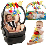 Hanging Rattles For Baby Crib Stroller & Car Seat Spiral Toy with Ringing Bell - StrawberryDaze
