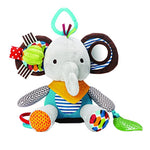 Multi-functional Infant Baby Toys Plush Elephant Rattle for Stroller, Car Seat & Crib