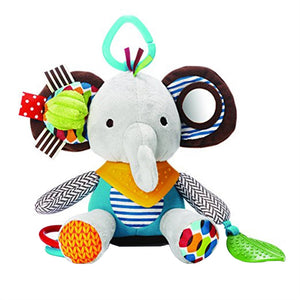 Multi-functional Infant Baby Toys Plush Elephant Rattle for Stroller, Car Seat & Crib - StrawberryDaze