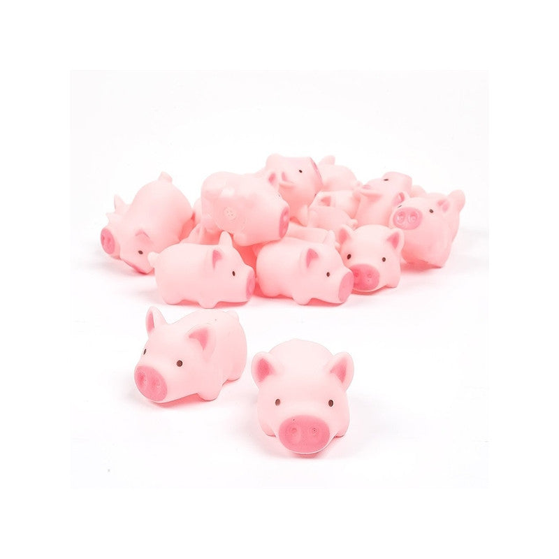 10pcs Rubber Pig Baby Bath Squeak Toy - StrawberryDaze