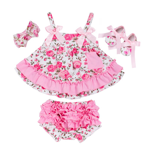 SALE!! Infant Ruffle Dress, Bloomer & Headband Set - Perfect For Summer!